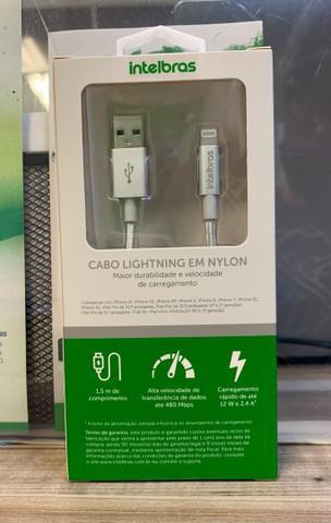 Cabo lightning iphone revestido em nylon