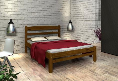 Cama de casal madeira maciça cor imbuia - mundo das