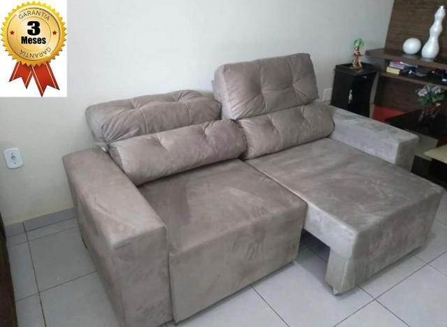 Sofá retrátil reclinável 3 lugares