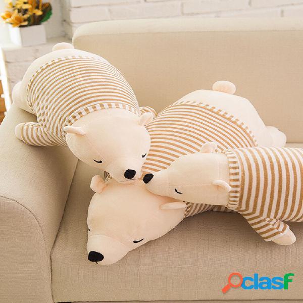 """11,8 / 19,7 """"4 estilos bonito desenho animado urso polar de pelúcia boneca pp algodão preenchimento decoração da casa br"""