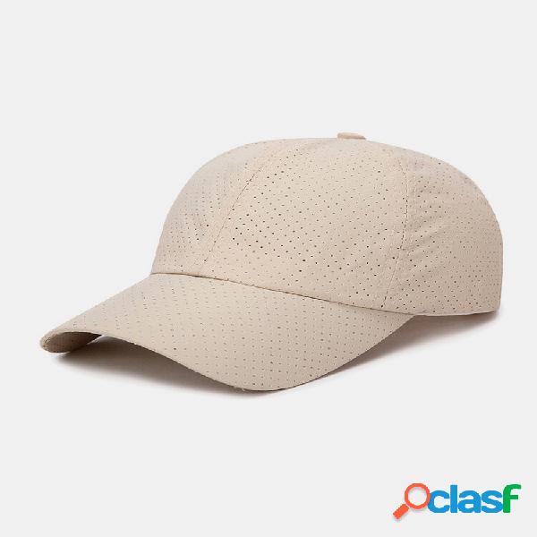 Guarda-sol de viagem de cor sólida de secagem rápida unissex respirável beisebol chapéu