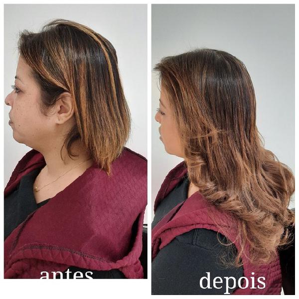 Mega hair completo: cabelo + colocação (cabelo humano) a
