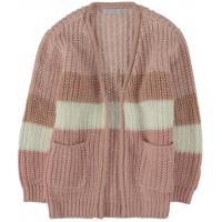 Parcelado] cardigan infantil alongado tricot aberto