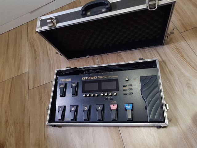 Pedaleira boss gt100 + hardcase