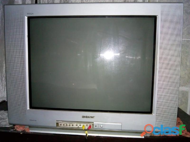 TV de tubo Sony 29 polegadas (usada) funcionando com conversor digital