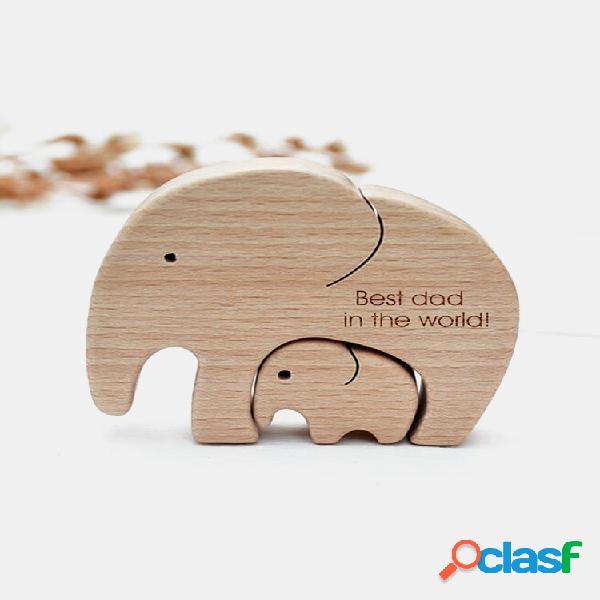 Presentes comemorativos dia das mães dia das mães bebê aniversário letras elefantes de madeira família artesanato orname