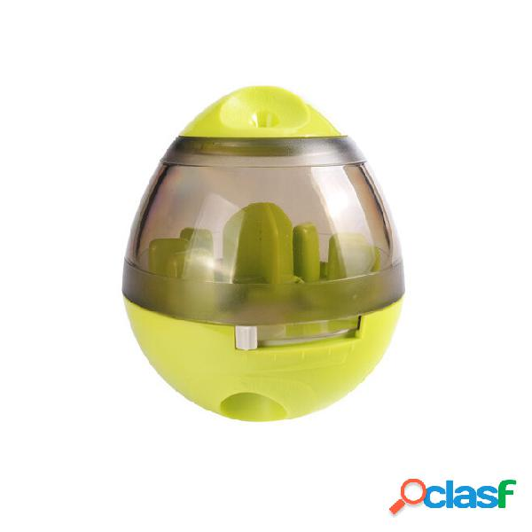 Criativo ovo forma copo pet dispenser food dog cat iq treat toy pet bowl