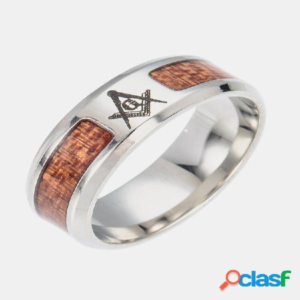 Anéis de dedo vintage inserir cruzar árvore da vida padrão anéis de aço inoxidável joias étnicas para homens