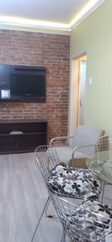 Ap. térreo mobiliado - dois dormitórios - bairro