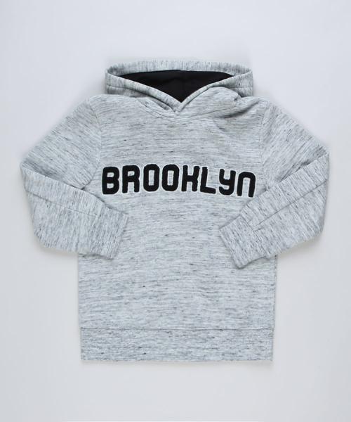 """Blusão de moletom infantil """"brooklyn"""" com capuz"""