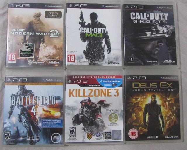 Jogos variados para ps3