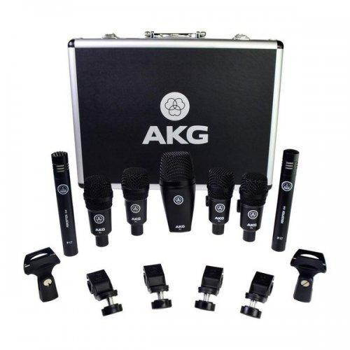 Microfone akg drumset session (kit 7 microfone) musical