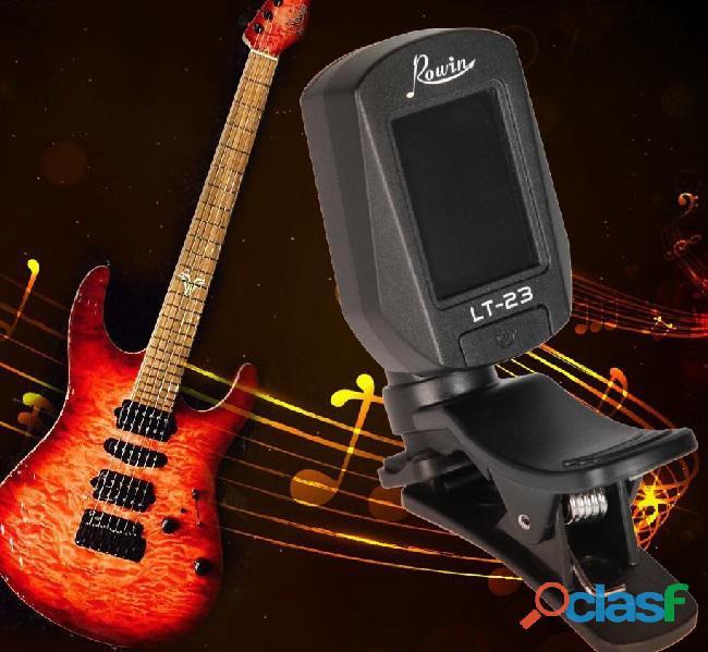 Afinador Clip on Rowin Digital LCD Alta Precisão Guitar Bass 2