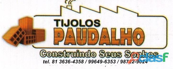 Tijolos direto da ceramica para pau amarelo paulista pe.