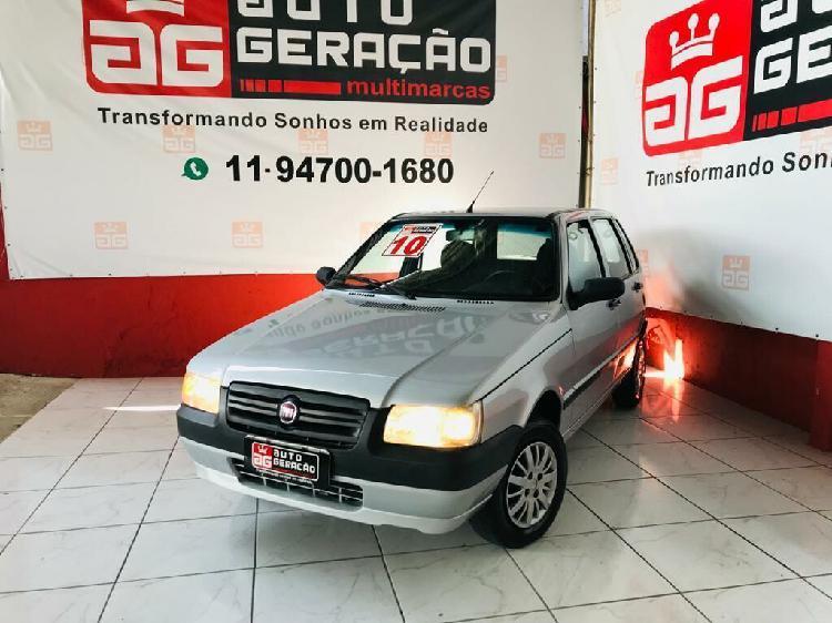 Fiat uno 1.0 mille fire 8v prata 2009/2010 - são paulo
