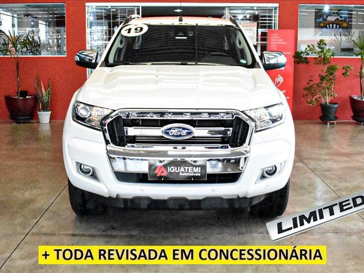 Ford ranger 3.2 limited 20v branco 2018/2019 - campinas