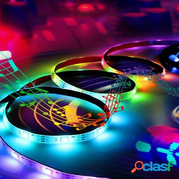 5v usb power led luzes de tira 5050 rgb tv backlight bluetooth app remoto controle de música (1/2/3 / 5m)