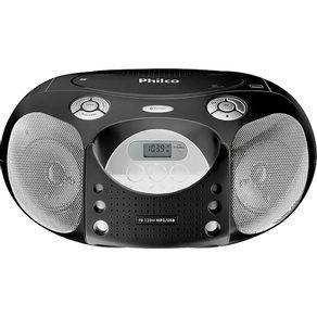 Boombox philco pb120n cd, mp3, mp4, fm - bivolt