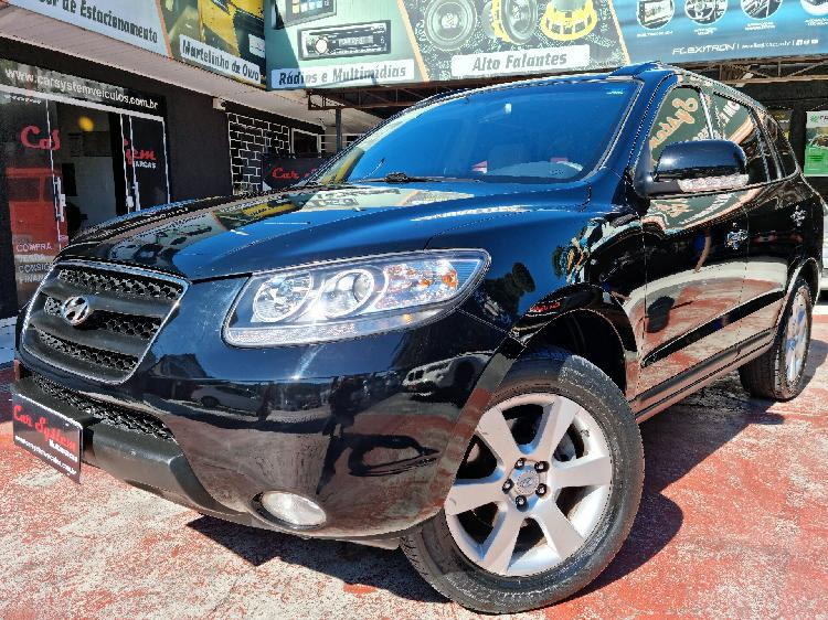 Hyundai santa fé 2.7 gls v6 preto 2009/2010 - curitiba