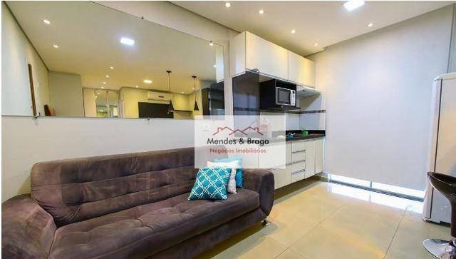 Studio com 1 dormitório para alugar, 36 m² por r$