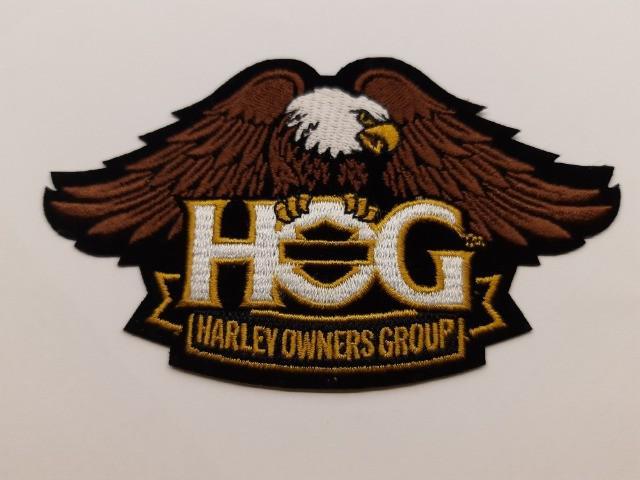 Bordado moto harley davidson hog (brasão)