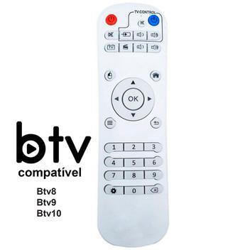 Controle remoto btv 8 - 9 - 10 - fbg/le/sky - controle