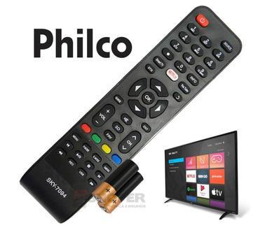 Controle remoto philco led smart tv netflix e youtube -7094