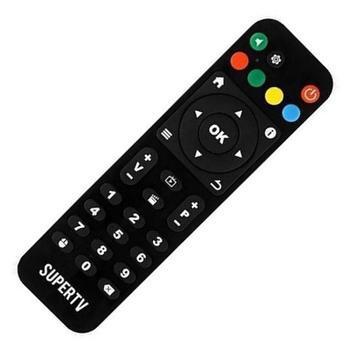 Controle remoto receptor supertv black / white x - controle