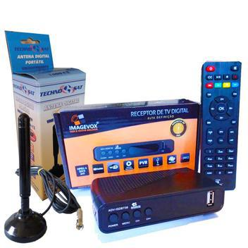 Conversor digital com antena interna c/imã 5mts cabo -
