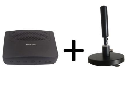 Conversor tv digital multilaser re512 usb + antena digital -