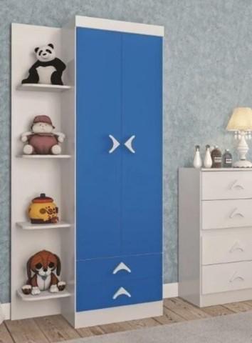 Guarda roupa infantil 2 portas happy baby atualle -