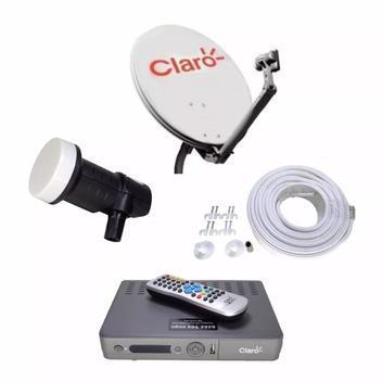 Kit completo c/receptor claro recarga tv hd alta definição