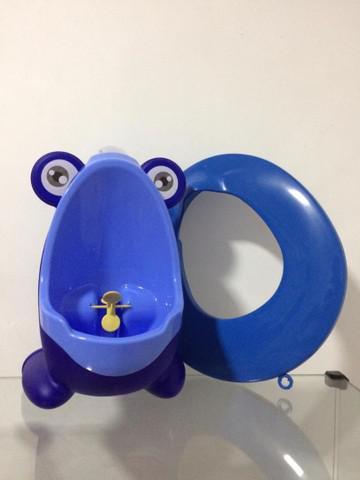 Kit mictorio infantil azul + assento redutor azul