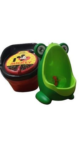 Kit mictorio infantil sapinho verde + troninho mickey disney