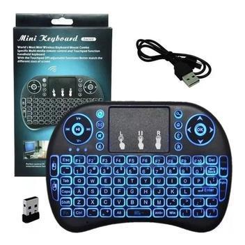 Mini teclado wireless com led para tv smart / android / pc -