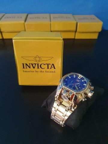 Relógio invicta bolt zeus magnum na caixa dourado