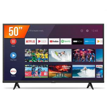 """Smart tv android led 50"""" 4k ultra hd tcl 50p615 3 hdmi"""