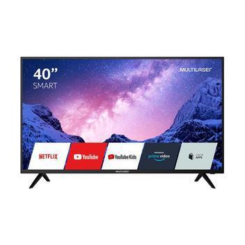 Tv smart 40 multilaser fhd c/ conversor digital, hdr, wifi,