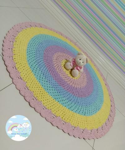Tapete croche infantil 1 metro candy colors.