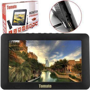 Tv portatil led monitor digital 9 polegadas com micro sd e