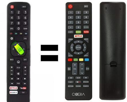 Controle tv cobia smartv com n etflix / youtube - controle