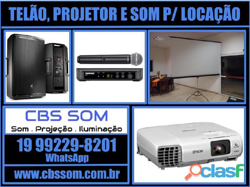Locação de telão e projetor Campinas 19 99229 8201 5