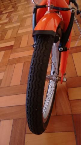 Bicicleta dobrável, aro 16, 1 velocidade.