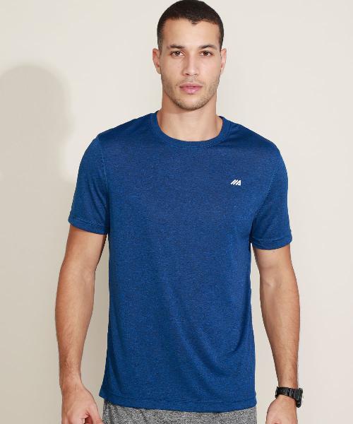 Camiseta masculina esportiva ace basic dry manga curta gola