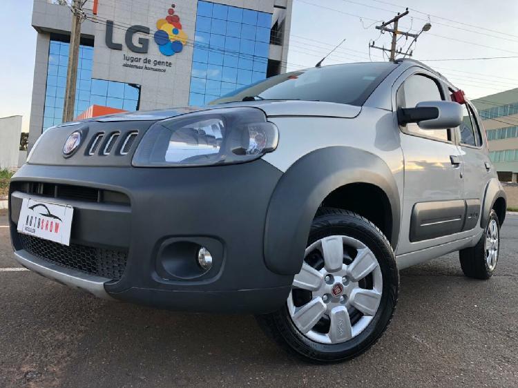Fiat uno 1.0 way 8v prata 2012/2013 - aparecida de goiânia