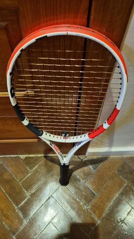 Raquete de tênis babolat pure strike ger 3 l2 305gr