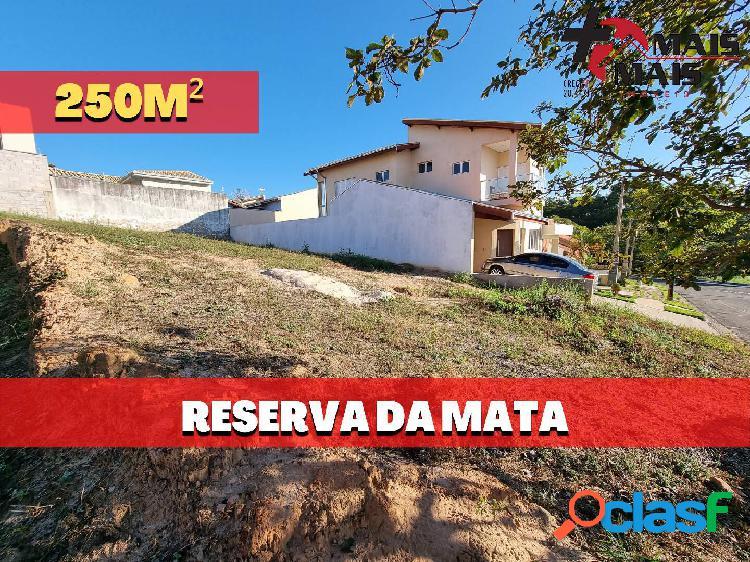 Terreno lote no condomínio reserva da mata com 250m²