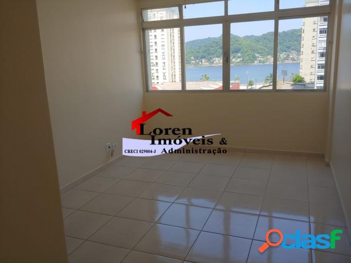 Apartamento 2 dormitórios vista para o mar gonzaguinha sv!