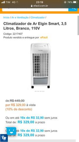 Climatizador de ar elgin smart, 3,5 litros, branco, 110v