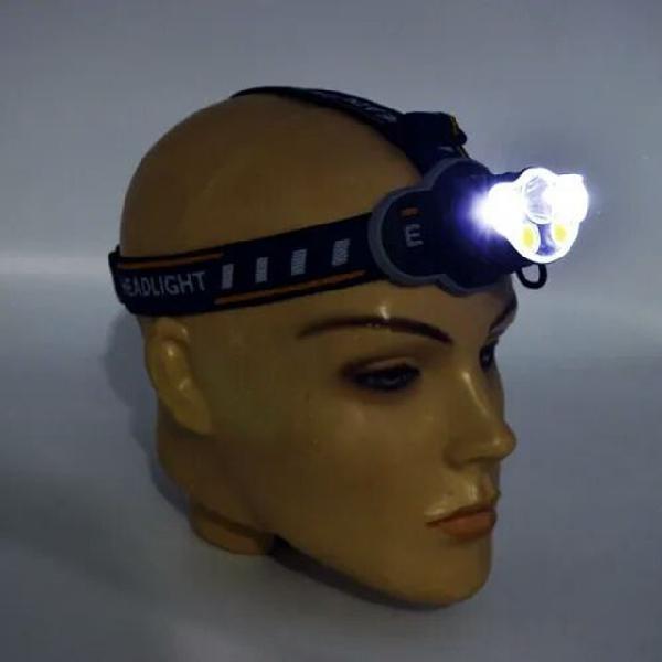 Lanterna de cabeça led com modos de iluminação